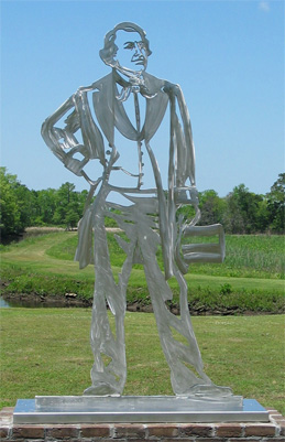 stainless steel sculpture, monumental sculpture, outdoor metal sculpture, metal sculpture garden