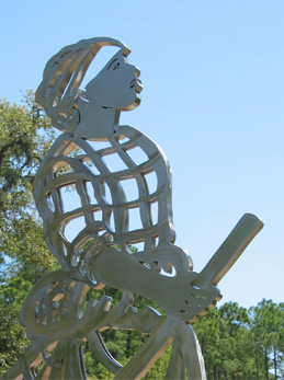 allegorical sculpture, historical sculptures, monumental sculpture, outdoor metal sculpture, metal sculpture garden, Brookgreen Gardens