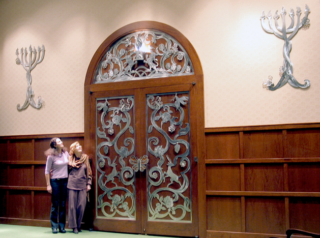 Traditions Liturgical A Ark Doors Are Stainless Steel And Cherry Wood  High X  Wide Doors Installed The Traditions Of The Palm Beaches